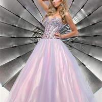 Sparkle Prom 71266 Strapless Beaded Corset Ball Gown