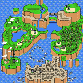 HUGE Super Mario World SNES Silk Poster by Packmania on Etsy