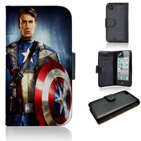 Chris Evan Captain America | wallet case | iPhone 4/4s 5 5s 5c 6 6+ case | samsung galaxy s3 s4 s5 s6 case |