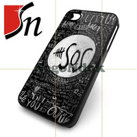 Black 5 SOS Quotes Design for iPhone 4/4s Case, iPhone 5 Case, Samsung Galaxy s3 i9300 and s4 i9500 case