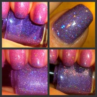"Color Changing Thermal Nail Polish - ""ECHO"" - Temperature Changing - Custom Blended Polish/Lacquer - 0.5 oz Full Sized Bottle"