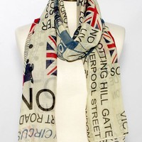London Calling Printed Scarf