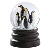 "Musical Penguin Snow Globe Plays ""Let It Snow"""