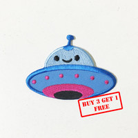 Cute UFO Iron on Patch