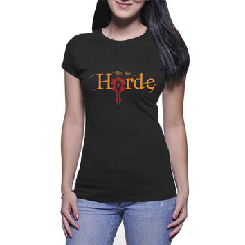 For The Horde  Womens T Shirts Black And White