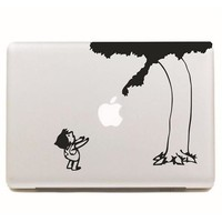 "Black Giving Tree DIY MacBook Skin Decal Sticker for Apple Macbook Pro Air Mac 13"" inch Laptop 13 Inch SKI-004"