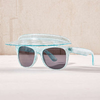 Glitter Shell Visor Shades - Urban Outfitters