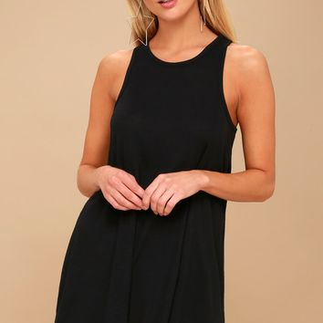 LA Nite Black Sleeveless Mini Dress
