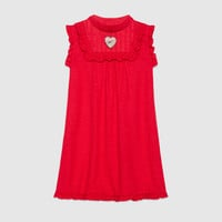 Gucci Children's embroidered linen dress