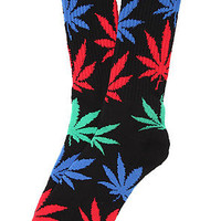 Huf Plantlife Socks in Black Multi