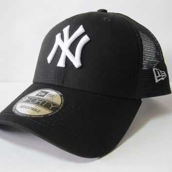 New Era Core Trucker Snapback 9Forty NY Yankees Hat Black Blue Cap Men Women