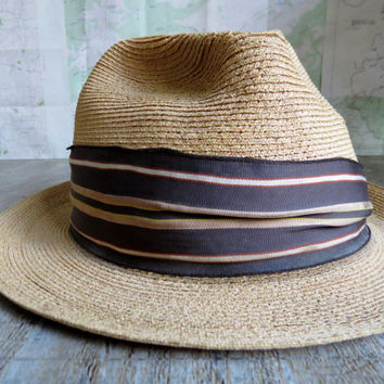 Cavanagh Straw Hat Palm Tan 7 5/8 Frank Sinatra Wore Cavanagh exclusively