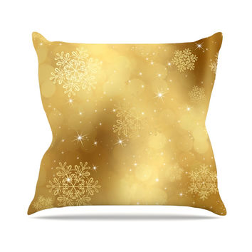 "Snap Studio ""Golden Radiance"" Yellow Throw Pillow"