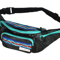 RARE Swatch Watch 90s Retro Fanny Pack | Turquoise, Blue, Red and Mint | Adjustable Strap, 5 Pockets