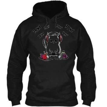 Gamer Cat  Cute Cat Gaming  Pullover Hoodie 8 oz