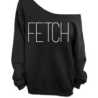 Fetch - Mean Girls - Black Slouchy Oversized Sweatshirt