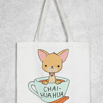 Chai-Huahua Graphic Tote - 1000108913 - Forever 21 Canada English