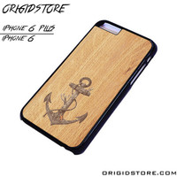 Anchor Wood Texture Case For Iphone 6/6Plus Case