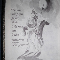 Vintage DON QUIXOTE BookPlate labels ~ box of 50 ~ New old stock ~ 1980s Antioch Bookplates Frame House Gallery