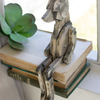 Recycled Wooden Fox with Movable Joints