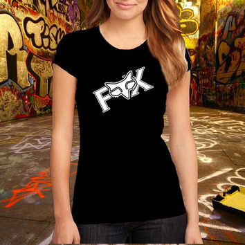 Fox Women Tshirt Brand Fashion Logo Tee Cotton T Shirt, (Various Color Available)