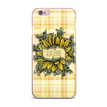 "Nick Atkinson ""Sunflower Sunshine"" Yellow Gold iPhone Case"