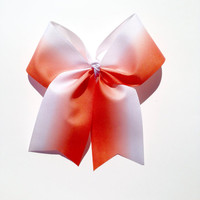Hair Bow-Accessories-Handmade-Volleyball-Orange-Gifts for her-Cheerleading-Softball-Bows-Oklahoma City Thunder-Oklahoma State-Clemson Tigers