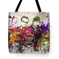 "U2 in Color Tote Bag for Sale by Aged Pixel (18"" x 18"")"