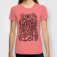 SO LONG & THANKS FOR ALL THE FISH T-shirt by Matthew Taylor Wilson