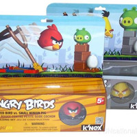 Lot 2 KNEX Building Sets Angry Birds Red Yellow Small Medium Minion Pigs Rovio