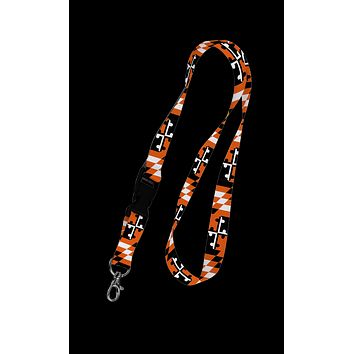 Baltimore Maryland Flag (Black & Orange) / Lanyard
