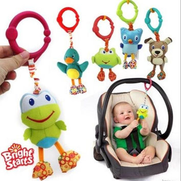 Strollers Accessories Cute baby toys Fun crib pendant Shock rise frog owl dog Model Toys Colorful toys Enlightenment