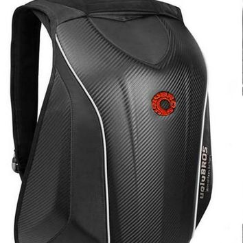 Hard Shell Waterproof Motorcycle Ballistic Backpack
