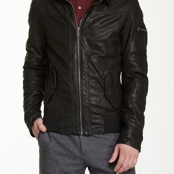 Rogue State Leather Bomber Jacket