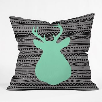 Allyson Johnson Deer And Aztec Throw Pillow
