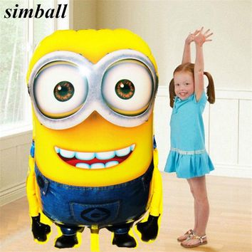 92*65cm Large Size Foil Balloon Cartoon Minions Inflatable Balloons Girl Boy Birthday Party Decoration Balloons Wedding Supplies