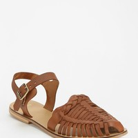 Ecote T-Strap Buckle Flat - Urban Outfitters