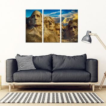 Mt. Rushmore 3 Pc Canvas