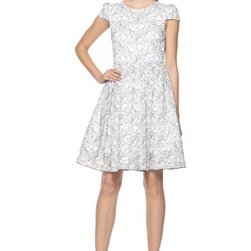 alice + olivia | AUBREE CAP SLEEVE DRESS