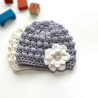 Crochet Baby hat, kids hat,  headwear, photo prop, 0-3 months child hat, infant hat, headpiece.
