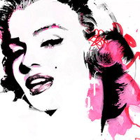 The MUSE V3 Pop Art style portrait fashion illustration 18x24