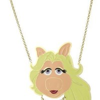 "nOir ""The Muppets"" Miss Piggy Enamel Pendant Necklace"
