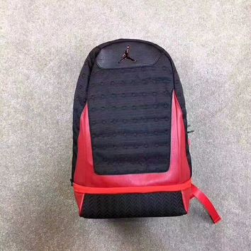 Air Jordan Retro 13 Bred Black Red Backpack - Best Deal Online