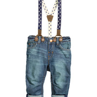 H&M Jeans with Suspenders $19.99