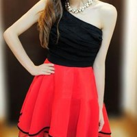 SEXY RUFFLE STYLE ONE SHOULDER FORMAL DRESS