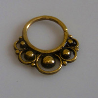 Septum Ring - Septum Jewelry - Septum Piercing - Septum Cuff - Indian Nose Ring - Indian Septum Ring - For Pierced Nose