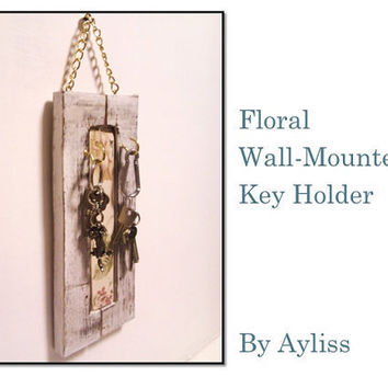 Floral Key Holder Wall Mounted by Ayliss on Etsy
