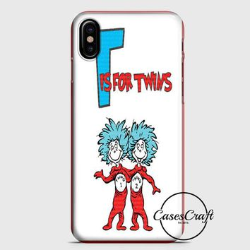 Thing 1 And Thing 2 iPhone X Case | casescraft
