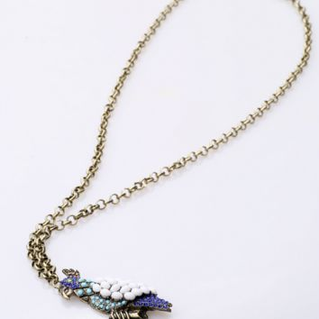 Long necklace of fashionable lovely Parrot,a perfect gift !