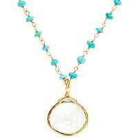 Turquoise & Dreamy Moonstone Necklace
